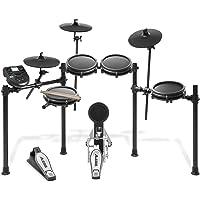 Alesis Drums Nitro Mesh Kit – Kit de Batterie Électronique 8 Pièces en Peau Maillée avec Rack en Aluminium Ultra-Résistant, 385 Sons, 60 Morceaux, Baguettes et Clé de Batterie