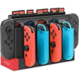 FYOUNG Caricabatterie Dock per Nintendo Switch Joy-Cons, [versione aggiornata] Stazione di ricarica per console switch e Joy-