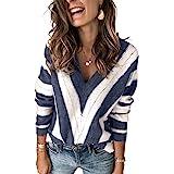 BLENCOT Maglioni Scollo a V Cardigan Aperto Sweatshirt Pullover Maglione Donna Invernale Collo Alto Donna Maglione Corto Swea
