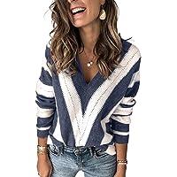 BLENCOT Maglioni Scollo a V Cardigan Aperto Sweatshirt Pullover Maglione Donna Invernale Collo Alto Donna Maglione Corto…
