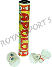 Tijarat Sports Apolo Feather Shuttlecock standered Size(Pack of 10).Badminton Shuttlecock
