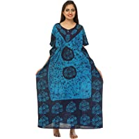 odishabazaar Cotton Floral Print Women's Maxi Nighty