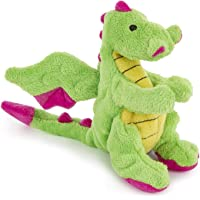 Pets Empire Dragons with Chew Guard Technology Plush Squeaker Dog Toy (Bright Green) 1 Piece