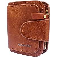 AlexVyan Small Women's Purse Wallet Female Hand Clutch Women/ Ladies/ Girls Wallets Card Holder 3 Pocket (Brown)
