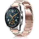 FINTIE Rem kompatibel med Huawei Watch GT/Huawei Watch GT 2 46 mm / GT 2e / GT Active Smartwatch – snabbfrigörande rostfritt