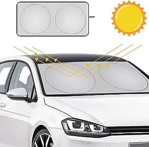 Uraqt Sommer Sonnenschutz Auto Sonnenschutz Auto Falten Autosonnenschutz Windschutzscheibe Sunshade Für Suvs Lkws Pkw Kfz Mit Uv Schutz Sonnenschirm Nylon Auto