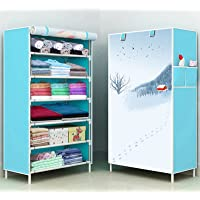 Pyxbe Fancy and Portable Foldable Collapsible Closet/Cabinet Collapsible Wardrobe Organizer, Multipurpose Storage Rack…