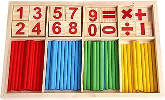 JAGETRADE Math Manipulative Holz Zählen Sticks Baby Kinder Vorschule Lernspielzeug