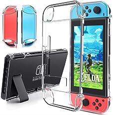 Hülle für Nintendo Switch Zubehör - Gogoings Weich Crystal Schutzhülle /Case/Cover/ mit Luftkissen Technologie und Tropfenschutz Passt Nintendo Switch Tasche für Nintendo Switch Konsole und Controller