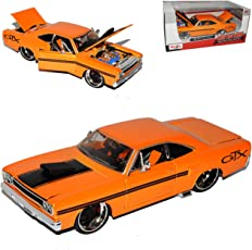 Maisto Plymouth GTX Coupe Orange 1970 Tuning 1/24 Modell Auto