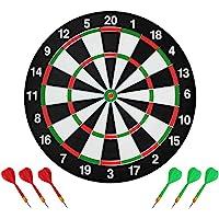 ASUVI Darts Board,Double Sided Dart Board Set with 6 Darts,Traditional Style Dart Board, Adult Board, Game Bullseye…