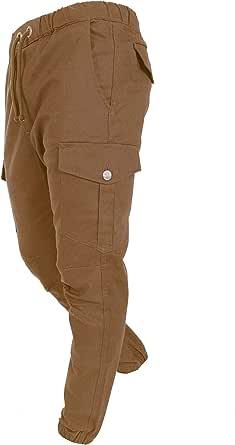 Finchman FMCST Men Cargo Pants Sport Pantaloni per Il Tempo Libero Chino Stretch