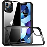 Case for iPhone 12/12 PRO/12 PRO MAX/12 MINI - Hard Transparent Back - Flexible Frame - High Protection - Thin and Lightweigh