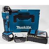 Makita DDA351RTJ Akku-Winkelbohrmaschine 18 V SSBF / 5.0 Ah, 2 Akkus + Ladegerät im MAKPAC Schwarz, Blau