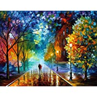 Electomania Acrylic Pigment Canvas Painting with Paint by Numbers Kits with Brushes , Printed, 16 x 20 Inch