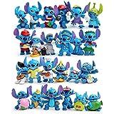 EASTVAPS Lot de 24 Mini Stitch PVC Figurine Jouets Collection