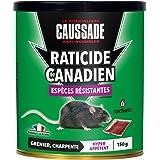 Caussade CARBF150 Raticide Canadien | Anti Rats & Souris | 6 Sachets Céréales |Lieux Secs | 150g | Grenier et Charpente | Esp
