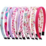 Candygirl 10 Pezzi Cerchietti per Capelli Glitter Velvet Fascia Ribbon Multicolore Hairbands Accessori per Capelli