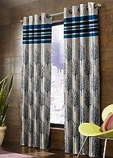 Homefab India 4 Piece Modern Jute Curtain