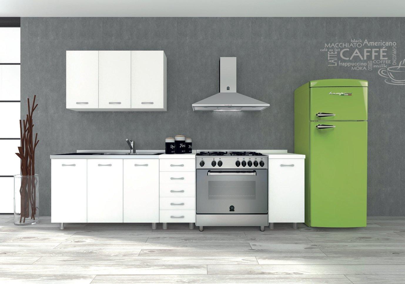Tosend Servizi sas Pensile per Cucina componibile per Cappa 2 Ante Formula  50 cm L60 Colore Bianco - Cappa Compresa