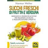 Succhi freschi di frutta e verdura. Ingredienti e proprietà nutritive per migliorare la salute e risolvere disturbi e malatti