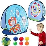 vamei 1 st bönpåse kastspel kasta spel för barn trädgårdsleksaker schark leksaker karneval fest utomhus inomhus trädgårdsspel