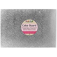 FunCakes Semelle à gâteau rectangulaire 35 cm x 25 cm x 4 mm, Argent/Gris