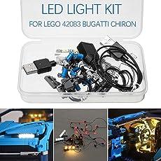 LED Licht Beleuchtung Kit, DIY Leuchtende Bausteine, NUR für LEGO 42083 Bugatti Chiron Technik Set