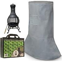 FiNeWaY ): Long Lasting Premium Large Waterproof Chimney BBQ Rain Cover Garden Protector With Bag- Size 125cm (L) x 58cm (W) x 136cm (H)