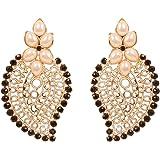 Touchstone Orecchini pendenti bohemien fantastici in filigrana con rubini finti per donna