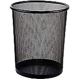 Deli 9188 Waste Basket Metal Mesh, Black