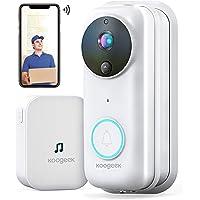 Koogeek Visiophone sans Fil,Interphone Vidéo WiFi HD 1080P, Sonnette Vidéo Intelligent avec Changement de Voix, Sonnette…