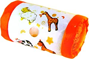 New Edition FunkyBuys Inflatable Baby Roller Music Rattle Sound Crawling Pushing Activity Toy