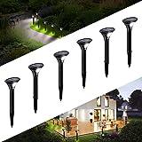 kinglight Lampe Solaire Extérieur Jardin, [6 Pack] Éclairage Solaire avec Detecteur de mouvement, Led Spot Solaire Projecteur
