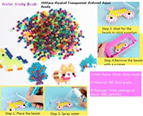 Jo's NEW 1000PCS PURE CRYSTAL TRANSPARENT Aqua Water Sticky Beads 5mm puzzle ball beads Multi mix of 12 Mixed Colors Refill Pack DIY Magic Beads Ball for Kids/Adults Toy for Fun Crafting and DIY Activity Water Sticky Beads Multicolor Creative Intelligence Montessori Educational Toys (LIMITED STOCK AVAILABLE)