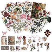 nuoshen 60 Pack d'Autocollants, Stickers Motifs Conte de Fées Plantes Fleurs Animaux Sauvages Papillons pour…