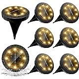 Lampe Solaire Exterieure 8pack 8LED Luminaire Solaire Extérieur Jardin Eclairage Blanc Chaud Spot LED Extérieur étanches Lumi