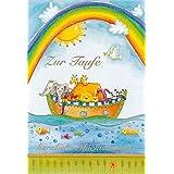 """bsb Tarjeta de felicitación para bautizo""""Zur Taufe"""" con Arca de Noah y arcoíris"""