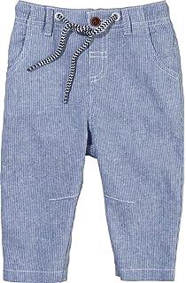 Lupilu Pure Collection Baby Jungen Leinenhemd Langarm Bio-Baumwolle Blau 50