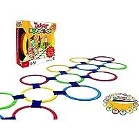 mj Capture 13 Rings Twister Hopscotch Indoor Game Set for Kids