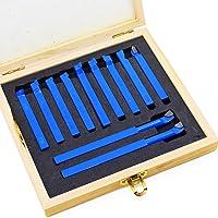 HSeaMall 11PCS Le foret bleu de tour définit le type de pointe de carbure de bout de carbure incliné par pointe de…