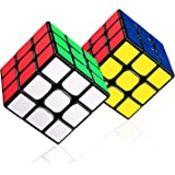 LOVEXIU Cubo Magico 3x3x3, Cubo 3x3 2 PCS, Speed Cubo 3x3, Speed Cube Profesional de Rápido Suave Durable y Fácil Giro para e