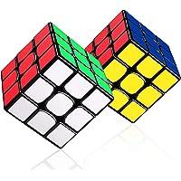 LOVEXIU Cube 3×3, 2 Lots Speed Cube 3x3x3, Cube Magique avec Vitesse de Rotation optimisée pour Jeu d'entraînement…