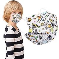 Acewin 3 Lagig Einwegmasken Kinder CE Zertifizierte 50 Stück Mund Nasen Maske Mädchen Kindermasken, Rosa/Blau/Bunt