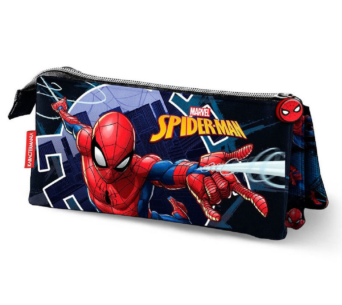 Karactermania Spiderman Hero Estuches, 23 cm, Azul
