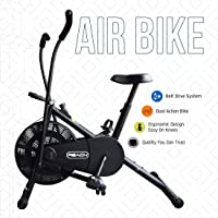 Reach Air Bike Exercise Cycle With Moving Handles & Adjustable Cushioned Seat (Multi-color)