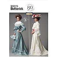 Butterick Patterns B5970 Tailles F5 16/18/20/22/24 Patrons de Haut et Jupe, Blanc