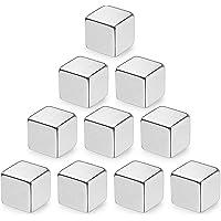 10pièces cube aimants cubiques en néodyme extra-fort,magnet pour frigo tableaux magnétiques en verre tableau board d…