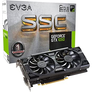 EVGA GeForce GTX 1050 SSC GAMING ACX 3.0, 2GB GDDR5, DX12 OSD Supporto (PXOC) Scheda Grafica 02G-P4-6154-KR