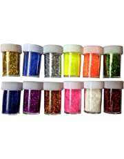 Shoppertize Glitter, Fine Glitter Powder for Art & Craft (Pack of 12)